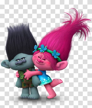 King Peppy DJ Suki Biggie Poppy DreamWorks Animasi, Cabang Troll dan Poppy, DreamWorks Troll Poppy memeluk ilustrasi cabang png