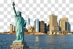 Patung Liberty Manhattan Corcovado Hotel, Bangunan New York dan Patung Liberty dari dekat png