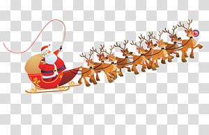 Ilustrasi kereta kuda Santa Claus, Santa Claus Reindeer Sled, Santa Claus s png