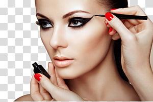 perempuan alis hitam, Kosmetik Rias make-up Beauty Parlor Eye liner, riasan eyeliner Painted PNG clipart