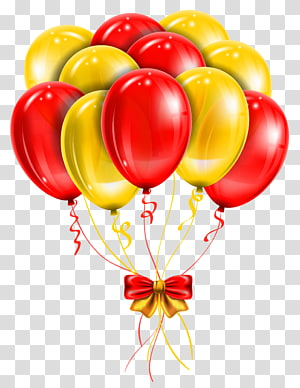 Balon Merah, Balon Merah Kuning, balon merah dan kuning PNG clipart