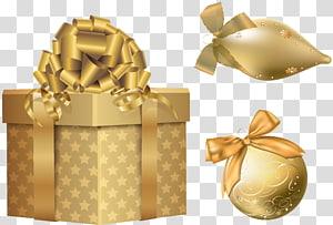ilustrasi kotak hadiah emas, hadiah Natal Perak, Elemen Natal Emas png
