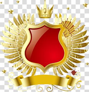 File Komputer MP3, lencana mahkota sayap emas, mahkota emas dan ilustrasi pita png