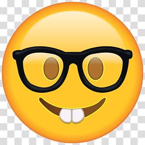 nerd emoji, T-shirt domain Emoji Nerd Glasses, Sunglasses Emoji PNG clipart