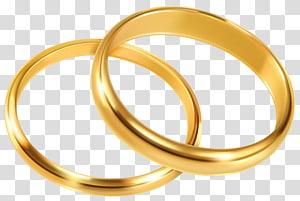 sepasang cincin berwarna emas, cincin pertunangan cincin kawin, cincin kawin PNG clipart