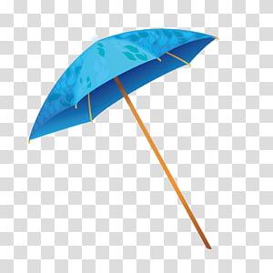 karya seni payung biru dan coklat, QuickView Umbrella Hawaii, Payung matahari musim panas PNG clipart