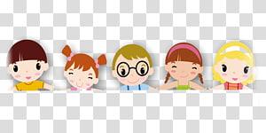Ilustrasi Guru Anak TK, anak-anak TK, lima anak mengenakan pakaian png
