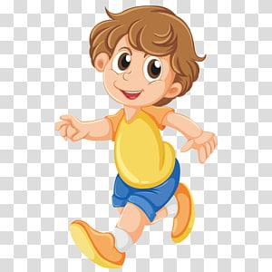 ilustrasi anak laki-laki berambut coklat, Ilustrasi Menggambar Gadis Boy, Pejalan Kaki PNG clipart