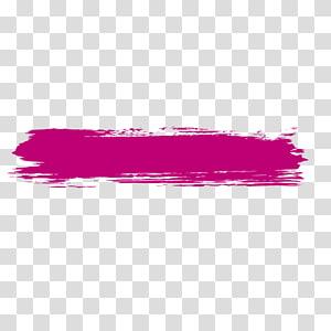 ilustrasi cat merah muda, Pena kuas tinta, Sikat rambut merah png