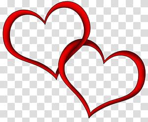 Pernikahan Jantung, Hati Merah, dua ilustrasi hati png