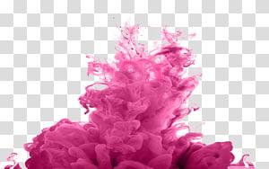 Asap berwarna Desktop, asap warna, cairan seni merah muda png