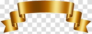 ilustrasi pita merek kosong berwarna emas, Emas, Spanduk Emas Mewah PNG clipart