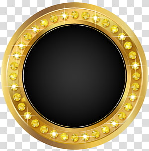 Segel, Segel Emas Hitam, bingkai emas bundar PNG clipart