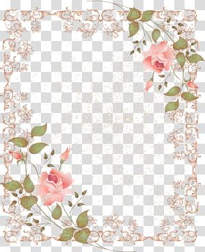 bingkai mawar merah muda, Perbatasan dan Bingkai Frame Bunga, perbatasan bunga png
