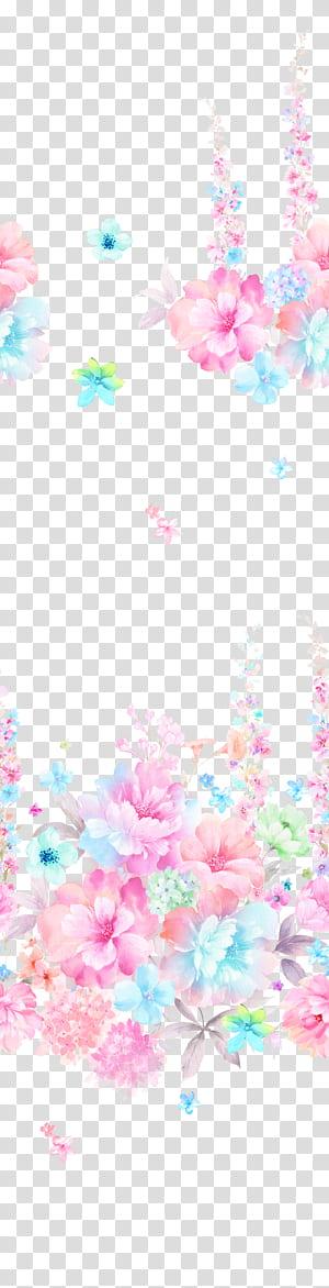 Lukisan Bunga Lukisan Cat Air Desain grafis, Bunga Cat Air, latar belakang bunga png