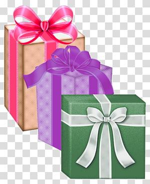 ilustrasi kotak hadiah berbagai macam warna, Kotak Hadiah png