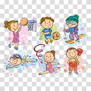 ilustrasi kegiatan rekreasi, Kartun Olahraga, Olahraga anak-anak PNG clipart