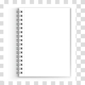 notebook spiral putih, Notebook Kertas White Black Font, notebook png