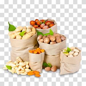 berbagai macam buah adalah karung, kacang-kacangan buah kering mete jejak makanan, kacang jujube kacang kenari camilan png