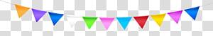 ilustrasi buntings berbagai macam warna,, Colorful Streamer png