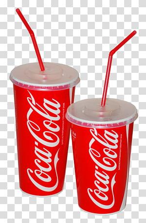 dua gelas sekali pakai Coca-Cola, The Coca-Cola Company, minuman ringan Pepsi, minuman Coca Cola PNG clipart