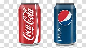 Kaleng minuman Coca-Cola dan Pepsi, kaleng minuman ringan Coca-Cola Pepsi, Coca-Cola dan kaleng Pepsi-Cola kreatif PNG clipart
