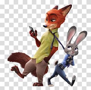 Judy Hopps Nick Wilde Finnick Toy, Judy Hopps dan Nick-Wilde Zootopia, karakter Rahasia Kehidupan Hewan Piaraan png
