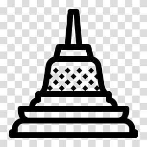 ilustrasi karya seni hitam, Candi Borobudur Boudhanath Stupa, Buddhisme png