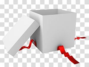 ilustrasi kotak hadiah putih dan merah, Kertas Kotak Hadiah, Kotak hadiah putih terbuka png