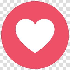 Emoji Facebook Emoticon Heart, Facebook Love Emoji, ilustrasi jantung png