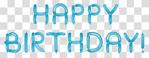 Kue ulang tahun, Selamat Ulang Tahun dengan Balon Biru, hamparan teks Selamat Ulang Tahun png