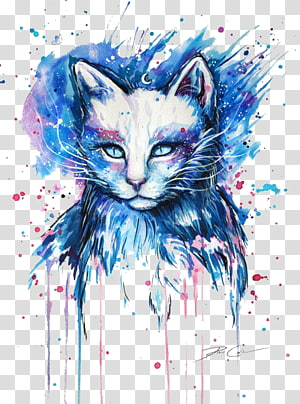 Mengapa Cat Kucing Menggambar Seni Lukis, Kucing, lukisan kucing warna-warni png