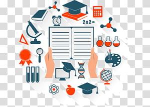 teknologi pendidikan e-learning, ikon membaca pendidikan, tema kelulusan PNG clipart