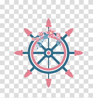 Roda kapal Roda kemudi Kemudi, jangkar dekoratif png