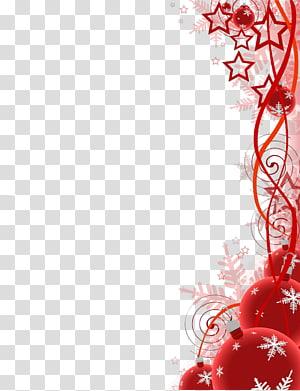 ilustrasi bintang merah dan perhiasan, Kepingan Salju Natal, latar belakang suasana Natal png