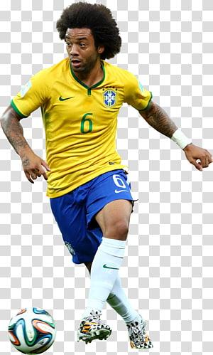 Marcelo Vieira, tim sepak bola nasional Brasil, pemain sepak bola Rendering Sport, brazil, pemain bola yang memegang bola png