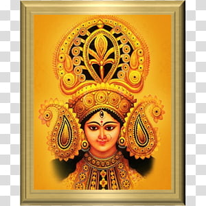 Poster Dewa Hindu, Durga Puja Navaratri Navadurga, hindu png