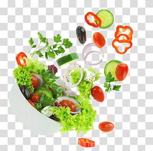 ilustrasi salad, salad Yunani Caesar salad Sayuran, Buah dan sayuran png