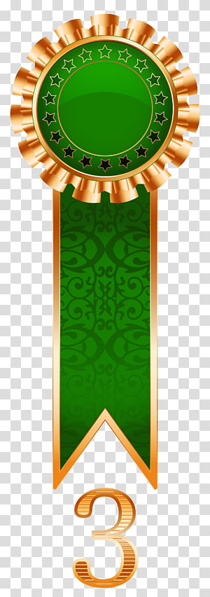 medali emas dan hijau top 3, Pita, Hadiah Tembaga Rosette png