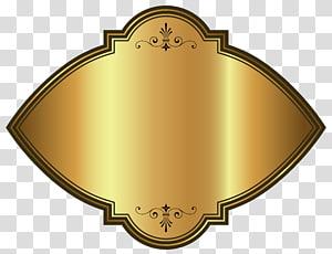 ilustrasi dekorasi dinding cokelat, Template Label Mewah Emas PNG clipart