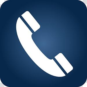 handset putih, Ikon Komputer iPhone Simbol Telepon, Ikon Telepon Gradien Biru png