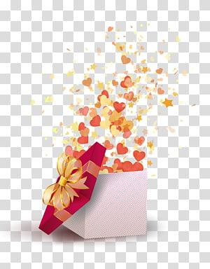 membuka kotak hadiah, kue ulang tahun Wish Happy Birthday to You Happiness, Romantic Gift png