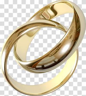 Cincin kawin Cincin pertunangan, Cincin Kawin, cincin pasangan berwarna emas PNG clipart