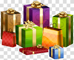 ilustrasi kotak hadiah aneka warna, Bungkus kado, Bungkus Kado png
