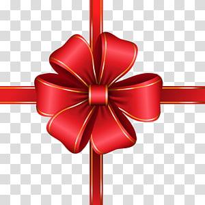 ilustrasi busur merah dan emas, Line, Decorative Red Bow png
