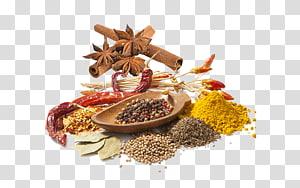 berbagai bumbu makanan, Bumbu Rempah-rempah Ramuan Rasa Bumbu, kayu manis dan rempah-rempah adas bintang menarik bahan Gratis png