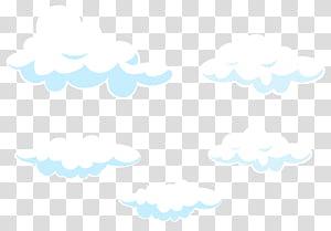 Pola Titik Garis Langit, Set Kartun Awan, ilustrasi awan putih PNG clipart
