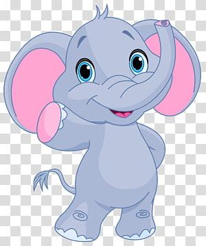 Elephant Blog, Cute Elephant, ilustrasi gajah abu-abu png