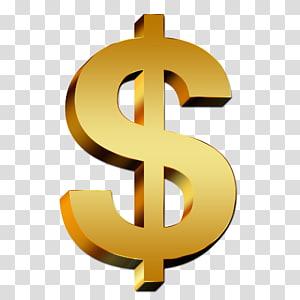 ilustrasi tanda dolar, tanda Dolar Simbol Dolar Amerika Serikat, Dolar Emas png