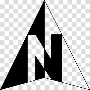 ilustrasi logo segitiga hitam dan putih, Simbol Panah Utara, Panah arah geografi png